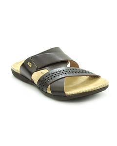 Brown Pvc Synthetic Slipper Sandals For Men