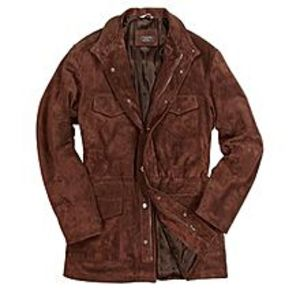 TASHCO Clothing New Style Men's Brown Italian Suede Leather Jacket
