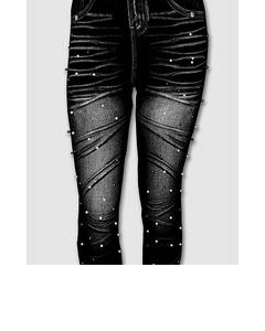 Jeans Legging & Tights With Daffodils Print For Women