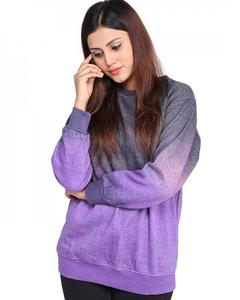 Multicolor Fleece Sweatshirt For Women