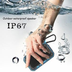 Poplikdfr Redcolourful Outdoor Multifunction Waterproof Stereo Bluetooth Speaker with Bicycle Holder Battery Capacity:2200mah