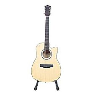 MIDWAY Semi Professional Acoustic Guitar - 39 inches - Beige