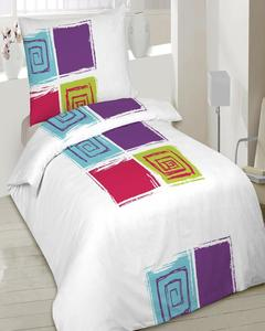 Bed Sheet For Single Bed - Multicolor - Cotton - 00SS3