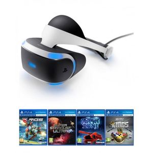 Sony PlayStation VR Headset with 4 VR Games - Black