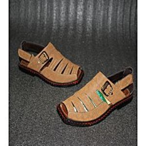 shoes world Brown artificial leather peshawary sandals for men