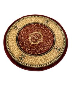 Round Rug - Synthetic - 3X3 - D.Red Ivory