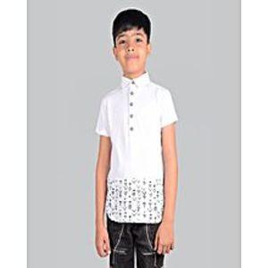 Outlook FashionFashion Polo Shirt For Kids-Gray Melange-NA889