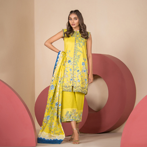Alkaram studio Spring Summer Collection 2020 Vol I Yellow Lawn 2 Piece Suit For Women -A132225767