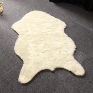 80X135cm Soft Creamy White Rug Fur Wool Chair Sofa Cover Mat Area Rugs