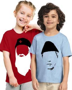 Pack Of Two Petriotic Jinnah & Edhi T-Shirt For Kids
