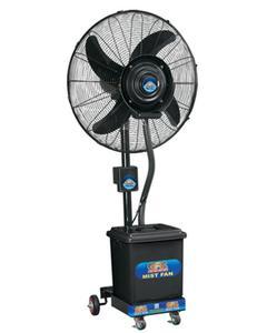 Mist Fan Pedestal - Heavy Duty Motor - 24″- Black