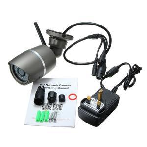 Wireless WIFI 720*1280P IP Camera ONVIF Outdoor Security Waterproof Night Vision (Black)