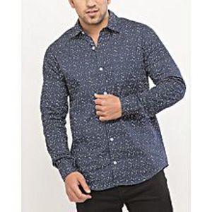 DenizenBlue Cotton L/S Woven Shirt for Men Special Online Price