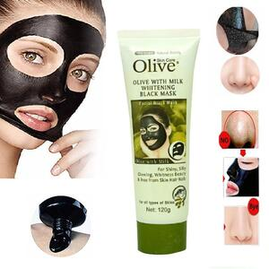 Olive Face Charcoal Mask for Shiny Silky Glowing Skin