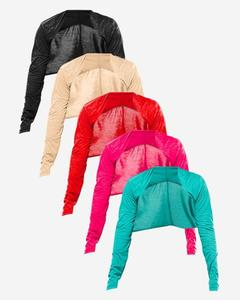 Pack Of 5 - Multicolor Viscose Short Shrug For Women