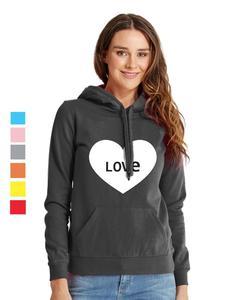 Rex Bazar - Black Love Printed Hoodie For Women