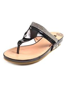 Black Flat Casual Chappal