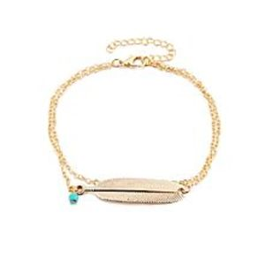 Solo Golden Alloy Vintage Anklet for Women