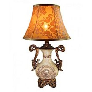 Dareechay Carving Sun Table Lamp - WTBL-028 - Antique Gold