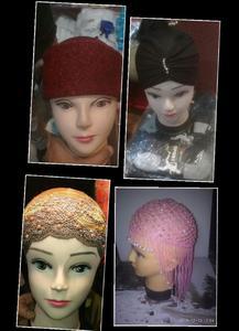 4 PCS Muslim Women Lace Hat Islamic Inner Caps Headwear Underscarf Hijab Headwear Wrap
