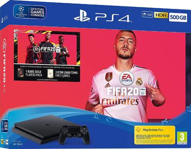 PlayStation 4 Slim FIFA 20 Bundle - 500 GB Region 2