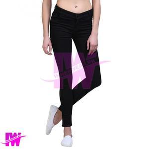 Women Ladies Girls Jeans Stretchable Super Skinny Tights Pant Premium Quality Black InnerWear