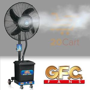 GFC Pedestal Mist Fan - 99% Copper with Heavy Duty Motor for excellent performance - 24″