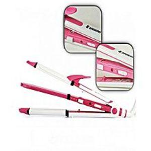 ShinonSh-8005 - Straightener 4 In 1 - Pink & White
