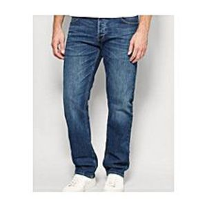 diKHAWA Blue Denim Fit Jeans for Men