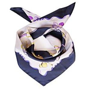 The Gallery Silk Square Neck Wrap Scarf