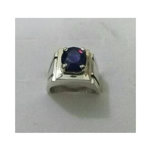 Dark Blue Sapphire Ring for Men