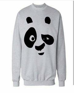 Grey panda Printed Sweat Shirt For Him