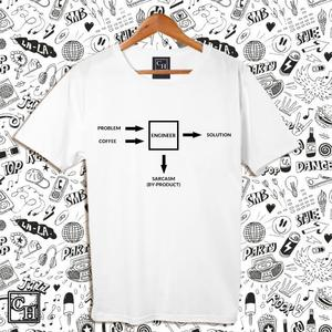 Coffee, Sarcasm and Engineer #Profession Boys Shirt For Him