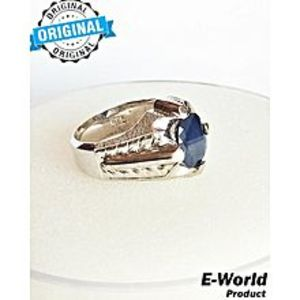 E-world Silver Ring With Neelam Blue Sapphires Gemstone 925 Sterling Silver