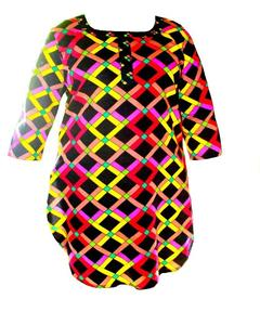 Black Printed Kurta For Girls In Lawn