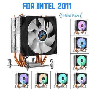 【Free Shipping + Flash Deal】Screw Base CPU Cooler 4 Heatpipe 3Pin 90mm LED RGB Cooling Fan for LGA 1366/2011