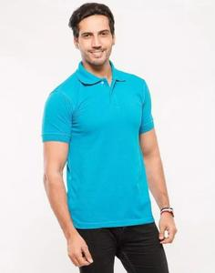 Turquoise Poly-Cotton Polo T Shirt