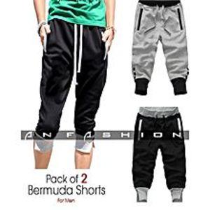 AN FashionPack Of 2 - Bermuda Shorts For Men