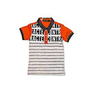 Tiny TodsImported Cotton Jersey Polo Shirt - Orange