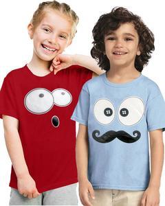 Pack Of 2 Cute Face Kids T-Shirt Combo
