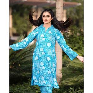 SITARA STUDIO Sapna lawn Collection Multicolor Lawn 2PC Unstitched Suit For Women - 6123 B (Un-stitched)