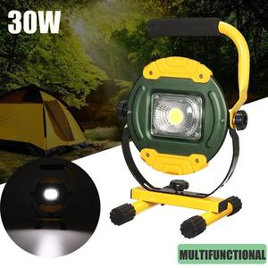 30W USB LED Rechargeable Flood Spot light Camping Portable Outdoor Flashing Lamp