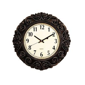 Asaan Buy Gold Shaded Antique Wall Clock - 17x17 - Black