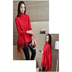 KA CollectionKA Collection Stylish Red Poncho For Her