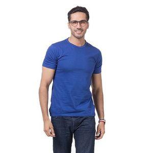 Royal Blue Cotton Jersey Plain T-Shirt For Men