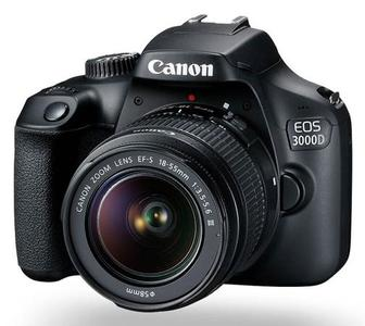 Canon EOS 3000D DSLR with 18-55mm Lens Camera