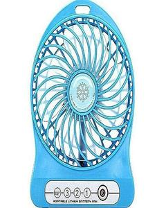 Mini Portable Rechargeable Fan & Power Bank - Blue