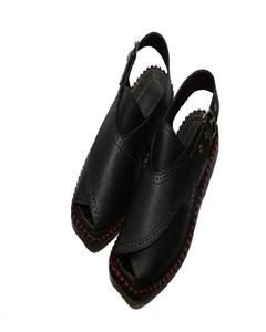 Black Peshawari Sandals For Men