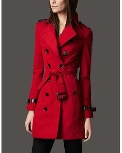 Red Cotton Jacket For Women
