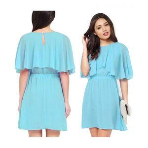 Charji Shop Sky Blue - Chiffon Dress For Women